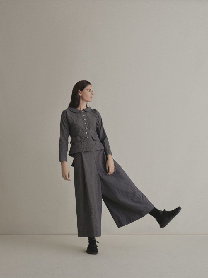 VICHY CHECK TAILORED JACKET | JAPANESE TROUSERS